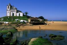Brazil Church at Espirito Santo. 17th Century Baroque Church on the beach near Espirito Santo in Brazil Royalty Free Stock Photos