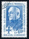 Aloisi Benedetto Cardinal Masella. BRAZIL - CIRCA 1955: stamp printed by Brazil, shows  Aloisi Benedetto Cardinal Masella, circa 1955 Stock Image