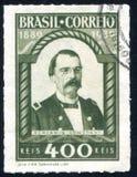 Benjamin Constant printed by Brazil. BRAZIL - CIRCA 1939: stamp printed by Brazil, shows  Benjamin Constant, circa 1939 Royalty Free Stock Photo