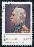 Duke of Caxias. BRAZIL - CIRCA 1980: stamp printed by Brazil, shows  Duke of Caxias, circa 1980 Royalty Free Stock Photography