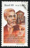 Joaquim Machado de Assis. BRAZIL - CIRCA 1989: stamp printed by Brazil, shows  Joaquim Machado de Assis, circa 1989 Stock Image