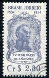 Jose de Anchieta. BRAZIL - CIRCA 1954: stamp printed by Brazil, shows  Jose de Anchieta, circa 1954 Stock Images