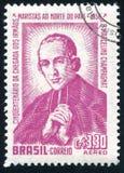 Marcelino Champagnat printed by Brazil. BRAZIL - CIRCA 1950: stamp printed by Brazil, shows Marcelino Champagnat, circa 1950 stock photos