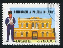 Military Police printed by Brazil. BRAZIL - CIRCA 1991: stamp printed by Brazil, shows  Military Police, circa 1991 Stock Photos