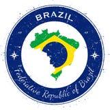 Brazil circular patriotic badge. Stock Photos