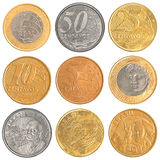 Brazil circulating coins collection set Stock Photos