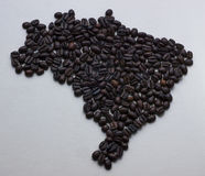 Brazil coffee map. Arabica beans cafe royalty free stock photo