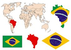 Brazil collection vector. Brazil collection on white background Royalty Free Stock Photos