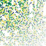 Brazil colors abstract dotted background Stock Photos