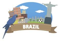 brazil con il fuoco sul binocolo royalty illustrazione gratis