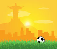Brazil 2014. Concept artwork with soccer ball royalty free illustration