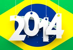 Brazil 2014. Conceptual 3d image Stock Photography