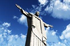 brazil corcovado de janeiro jesus mo rio staty Royaltyfri Fotografi