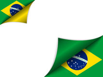 Brazil Country Flag Turning Page. Vector - Brazil Country Flag Turning Page Stock Photos