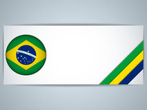 Brazil Country Set of Banners Royalty Free Stock Images