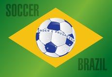 Brazil country soccer flag illustration design Stock Photo