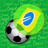 Brazil creative soccer sybmol Stock Images