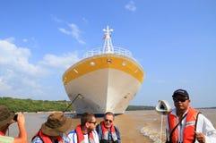 Brazil, Cruise Ship on Amazon River: Tourist Excursion Stock Photography