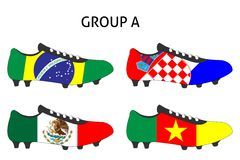 Brazil Cup Cleats Group A Stock Photography