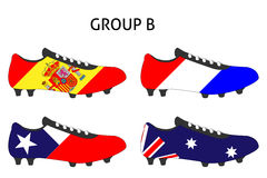 Brazil Cup Cleats Group B Royalty Free Stock Photos