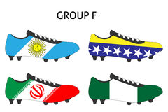 Brazil Cup Cleats Group F Royalty Free Stock Photos