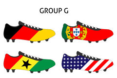 Brazil Cup Cleats Group G Royalty Free Stock Image