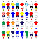 Brazil Cup Football Kits Royalty Free Stock Photo