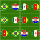 Brazil Cup Matches Group A Royalty Free Stock Photography