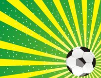 Brazil Cup Winners. Background with Brazil flag colors an a soccer ball in the corner Royalty Free Stock Photos
