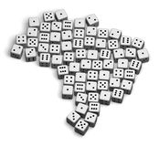 Brazil 3D. Dice gamble concept geographical image vector illustration