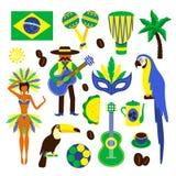 Brazil decorative set Stock Images