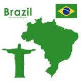 Brazil. Design over white background vector illustration Royalty Free Stock Photos