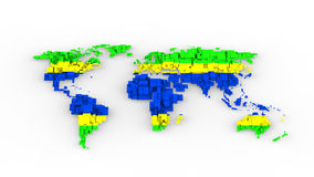 Brazil design world map illustration Stock Photo