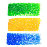 Brazil dotted banners Royalty Free Stock Photo