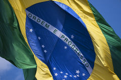 Brazil& x27 ; drapeau de s Images stock