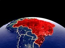 Brazil on Earth from space royalty free illustration