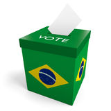Brazil election ballot box for collecting votes Royalty Free Stock Image