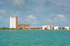 Brazil Factory on Shoreline Royalty Free Stock Photo