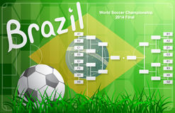 Brazil FIFA Championship tournament chart Royalty Free Stock Photography