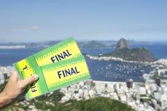 Brazil Final Tickets Rio de Janeiro Skyline Stock Images