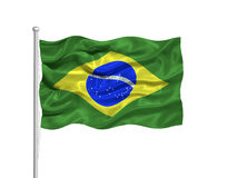 Brazil Flag 2 Royalty Free Stock Photography
