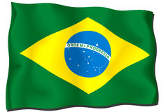 Brazil Flag Royalty Free Stock Image