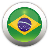 Brazil Flag Aqua Button Royalty Free Stock Image