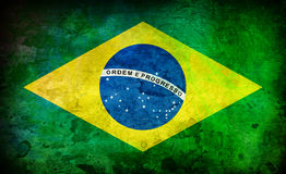 Brazil. Flag with artistic effects stock photo