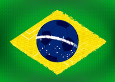 Brazil Flag Background Stock Photos