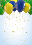 Brazil. Flag balloons celebration design backdrop Stock Photos