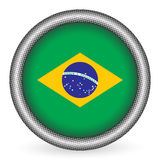 Brazil flag button Stock Photography