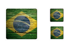 Brazil Flag Buttons Stock Image