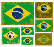 Brazil flag collection vector Stock Image