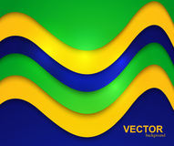 Brazil flag colors wave concept colorful Stock Image